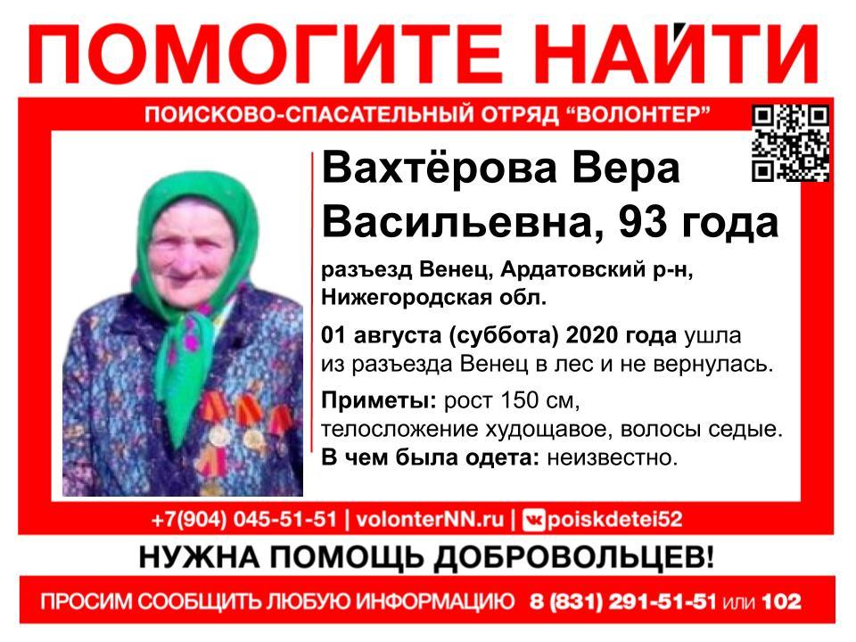 Волонтеры ищут 93-летнюю бабушку, заблудившуюся в лесу в Ардатовском районе