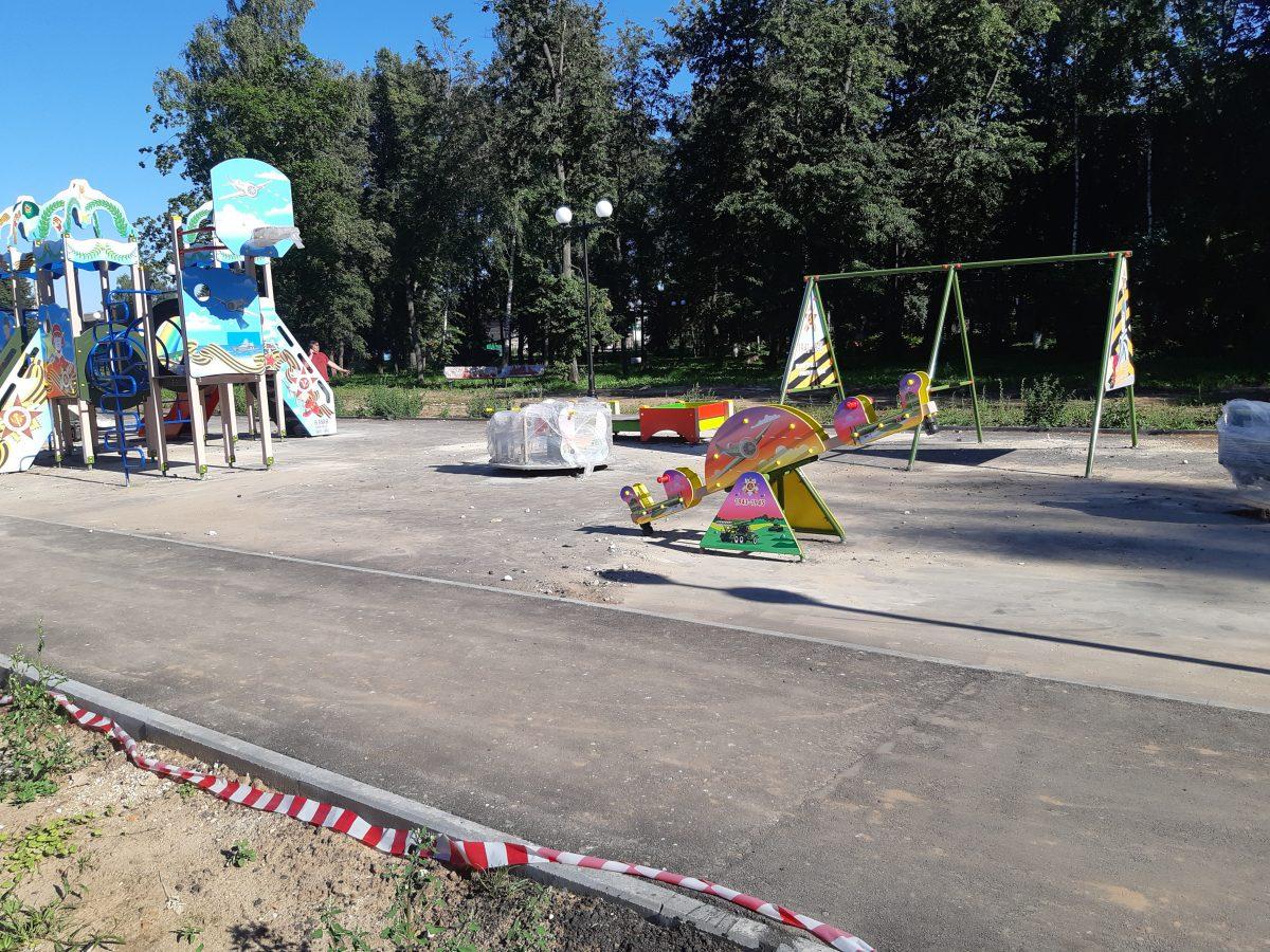 Фотозона, детская площадка иновые образцы военной техники появятся влысковском парке Победы