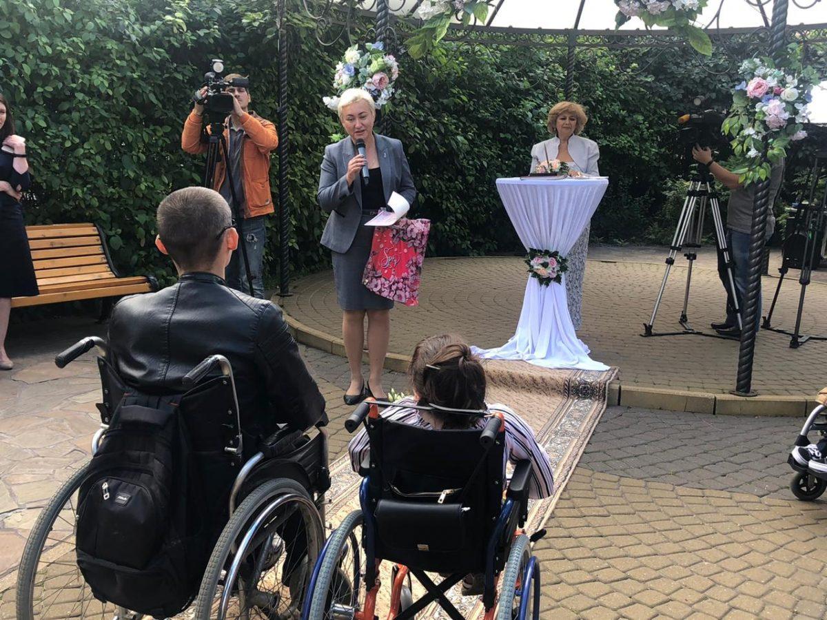 Свадьбу для людей с ограниченными возможностями провели в Нижегородском Доме бракосочетания