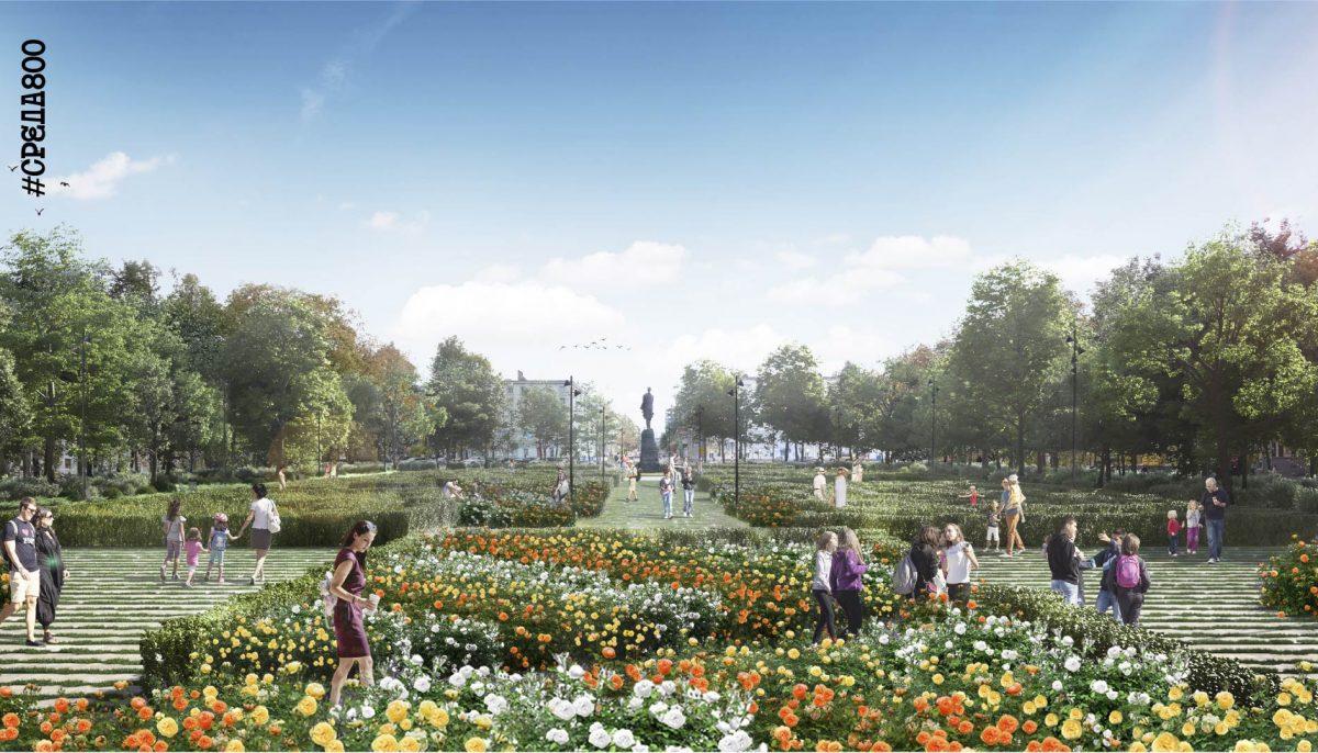 Глеб Никитин обещал основательно благоустроить сквер на площади Горького к 800-летию Нижнего Новгорода