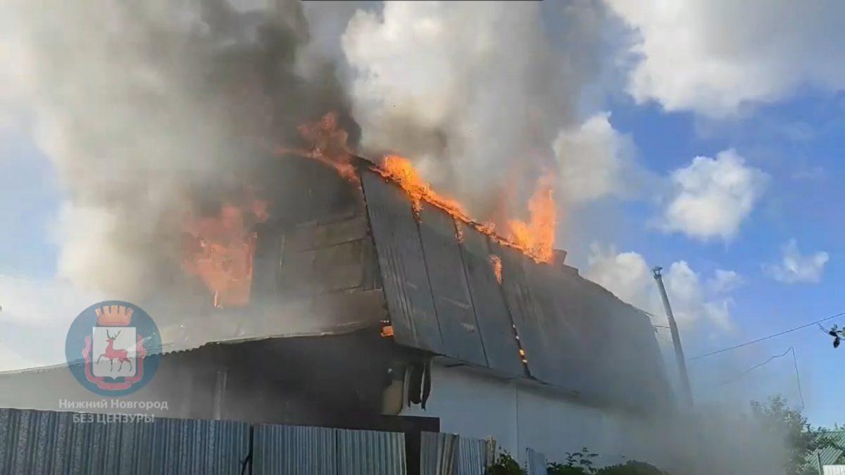 Жилой дом дотла сгорел в садовом товариществе под Дзержинском