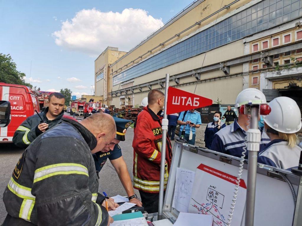 Пожар вспыхнул в прессовом цехе ГАЗа в Нижнем Новгороде