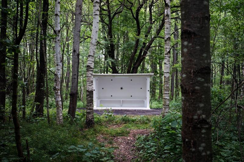 Нижегородский художник построил остановку в садовом массиве