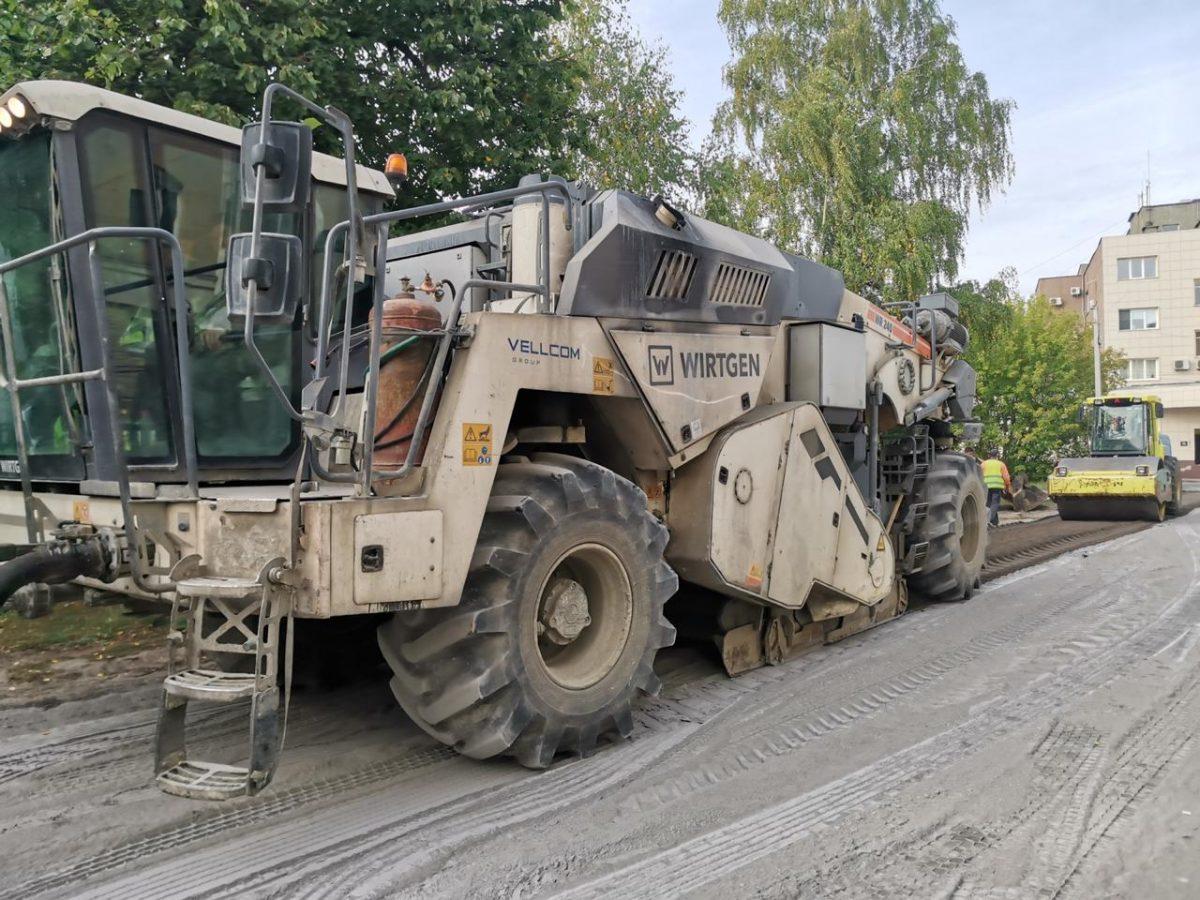При ремонте дороги вВыксе используют инновационные технологии