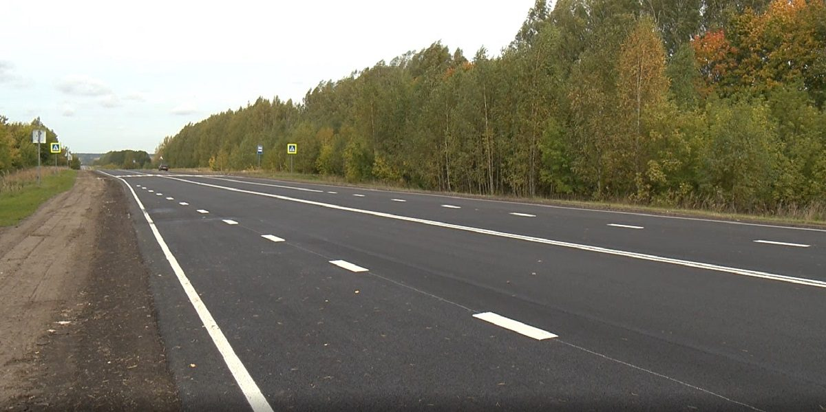 ВКнягининском районе завершился ремонт участка дороги Работки-Порецкое