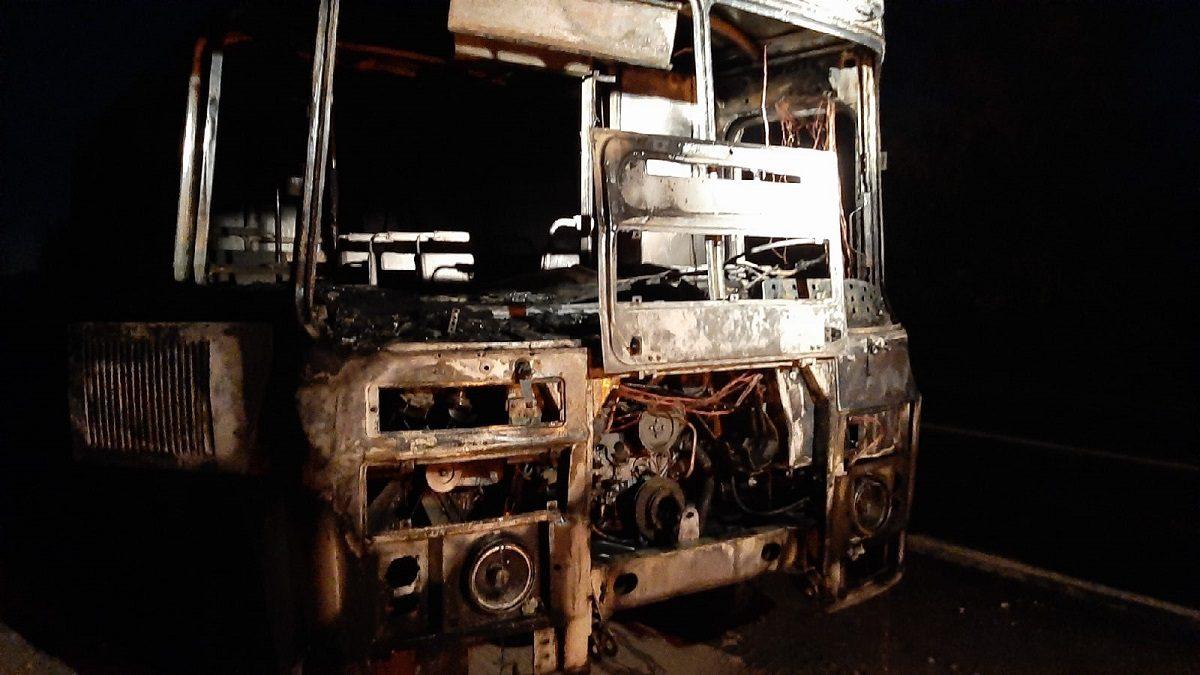 Автобус на ходу загорелся в Дзержинске