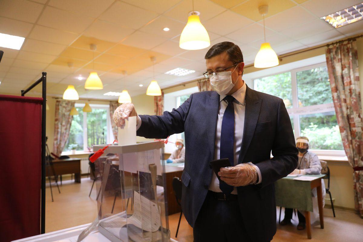 Глеб Никитин проголосовал навыборах депутатов Городской думы Нижнего Новгорода