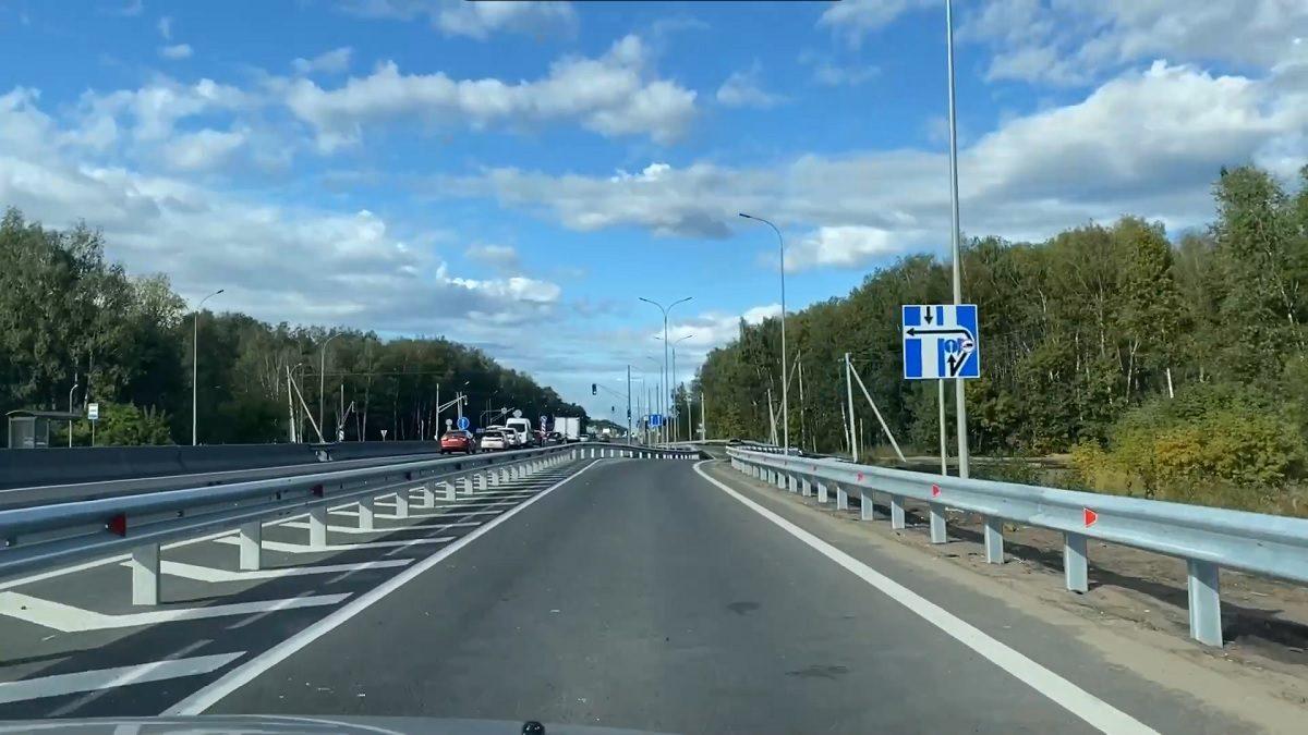 Новый поворот на Московском шоссе открылся около магазина «Леруа Мерлен»
