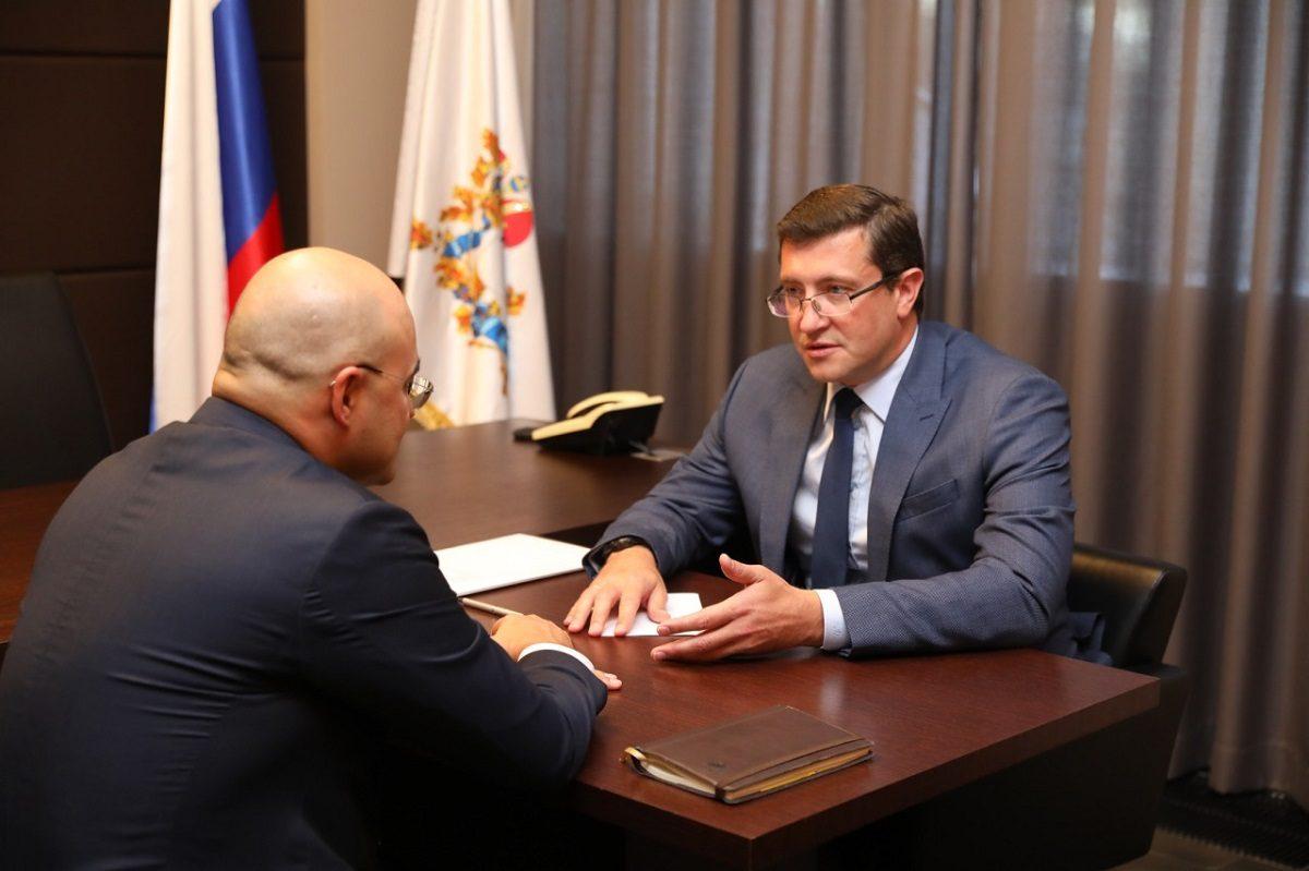 Глеб Никитин ипредседатель правления ПАО «МТС» Алексей Корня обсудили совместные проекты цифровизации