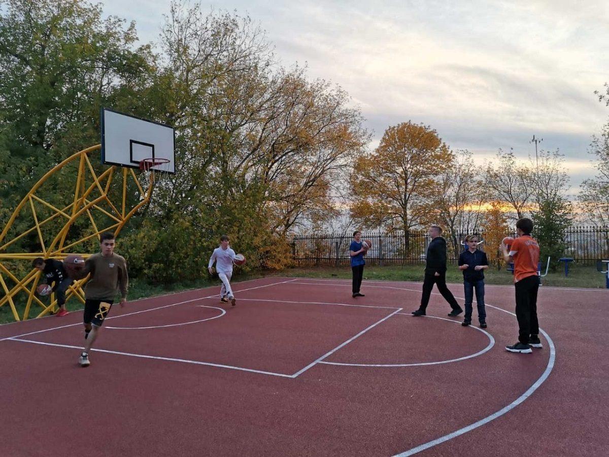 Баскетбольная площадка появилась у воспитанников нижегородской коррекционной школы–интерната № 1