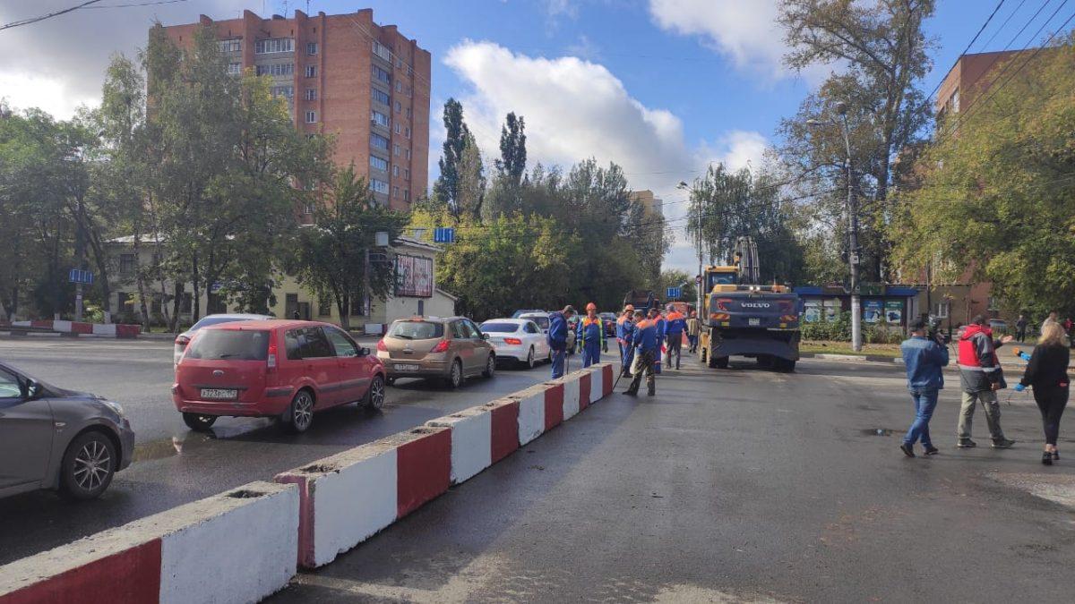 Кдемонтажным работам приступили наперекрытом участке улицы Циолковского