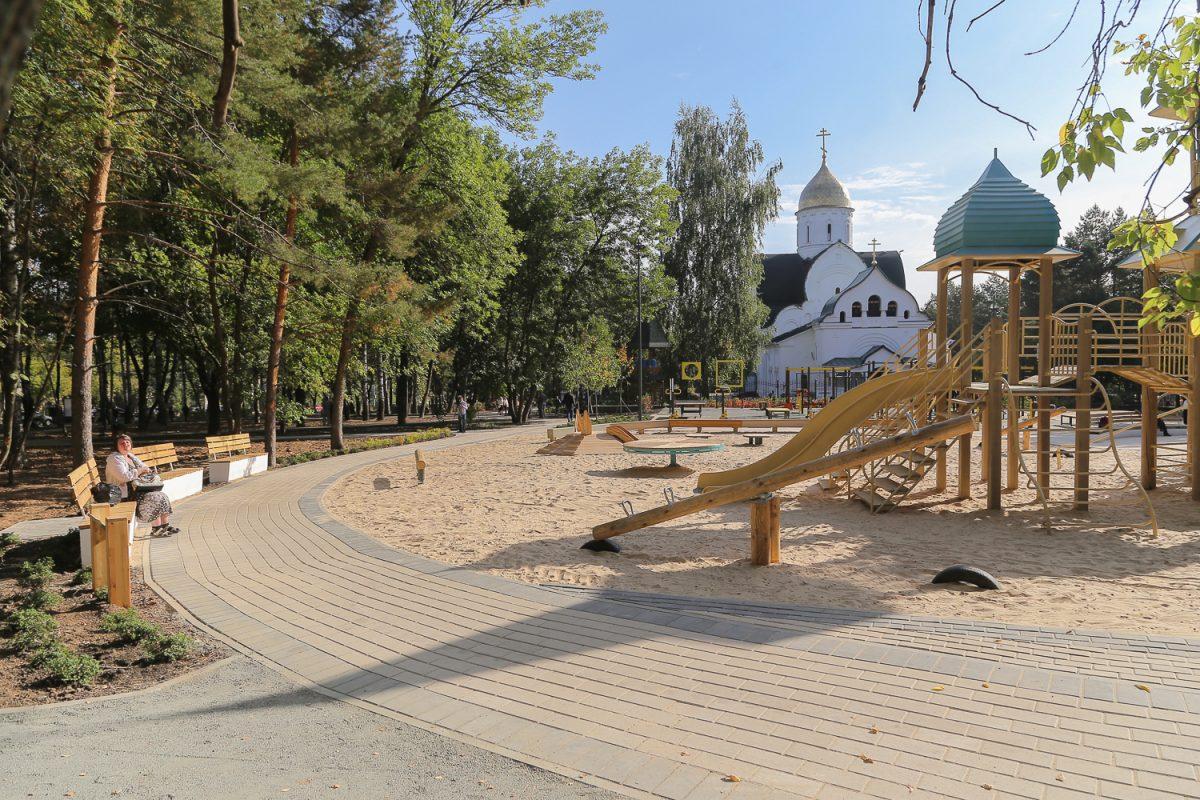Сквер «Звезда» открылся  после благоустройства в Советском районе