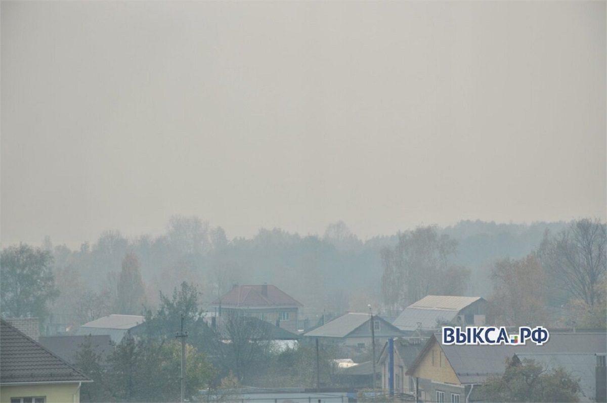 Смог от пожаров под Рязанью пришел в Нижегородскую область