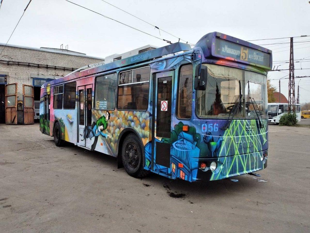 Первый городской троллейбус с граффити выйдет на дороги Нижнего Новгорода