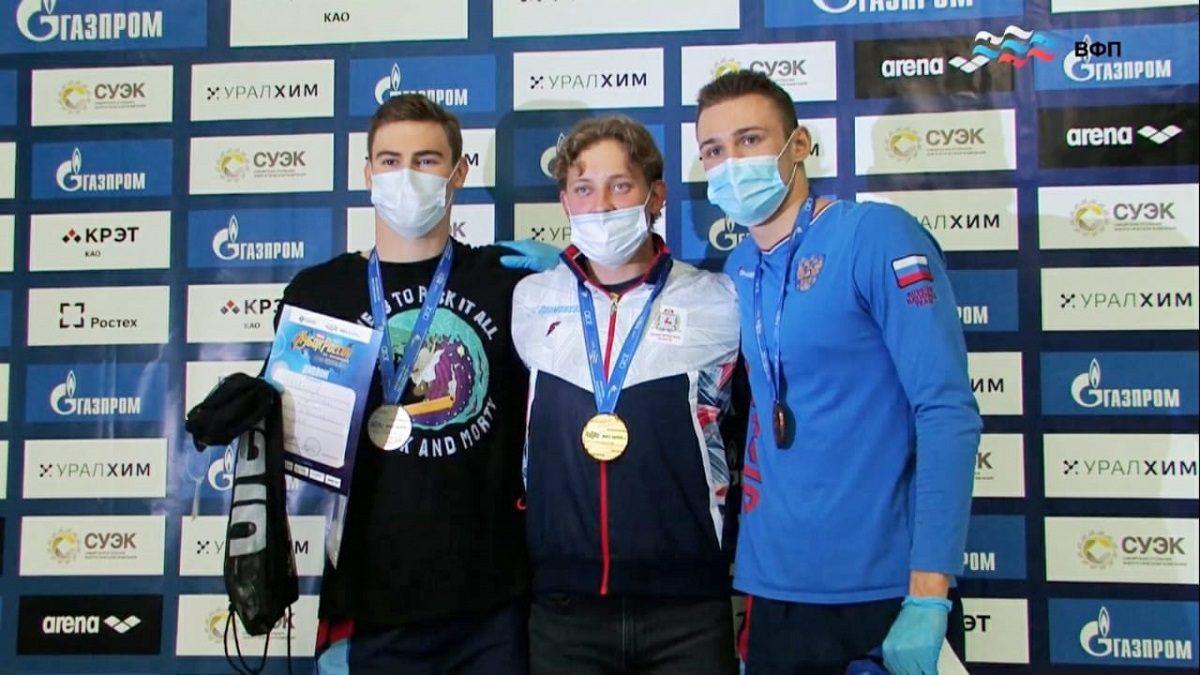 Нижегородские пловцы завоевали 1 золотую и2 бронзовые медали наКубке России