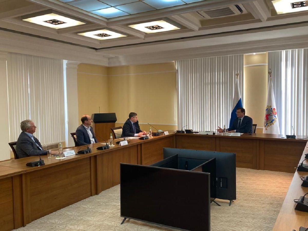Глеб Никитин провел встречу сгенеральным директором «Веолия Восток» Леонидом Локшиным