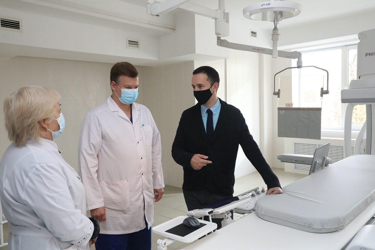Новый антиограф со встроенным модулем для измерения давления и пульсоксиметрии заработал внижегородской больнице №5