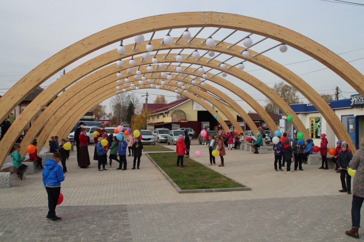 Площадь Свободы благоустроили вКрасных Баках