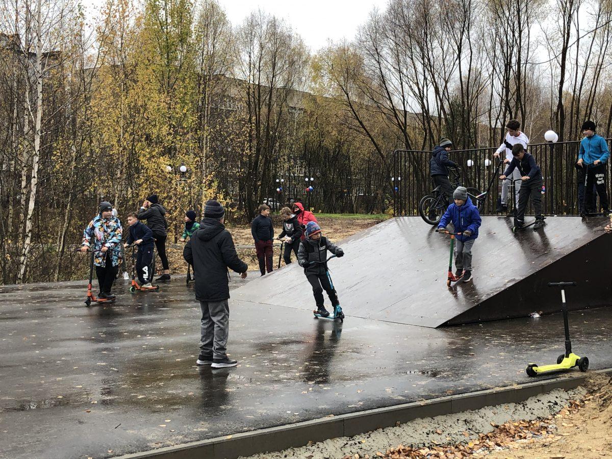 Герои известного мультфильма искейт-площадка появились вгородском парке вНавашине