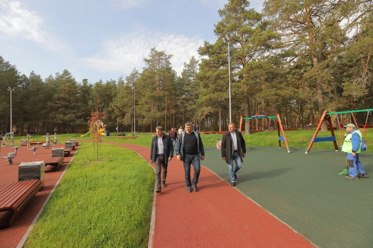ВДзержинске завершается второй этап благоустройства парка «Утиное озеро»