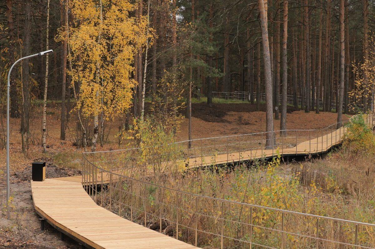 Подрядчик завершил благоустройство парка «Утиное озеро» вДзержинске: смотрим, как изменилось общественное пространство