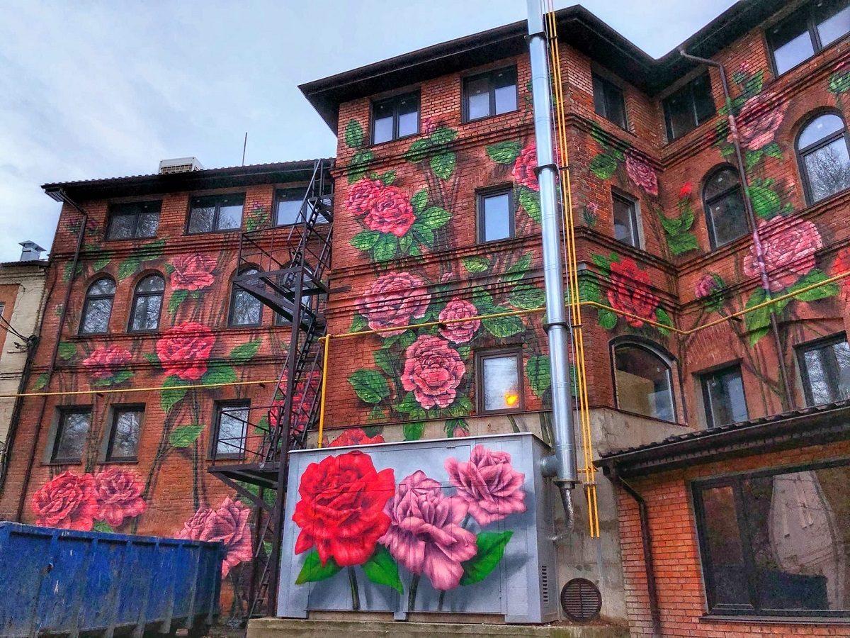 Фото дня: в Нижнем Новгороде на улице Советской расцвел дом
