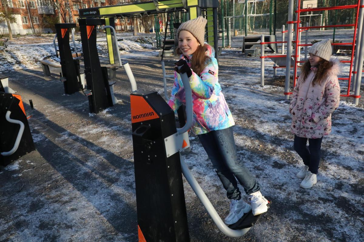 Благоустройство улица городская Сурикова 6 4 детская площадка спортивная комфортная среда занятие спортом