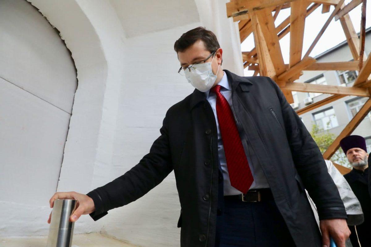 Глеб Никитин принял участие взакладке грамоты воснование колокольни Спасо-Преображенского собора