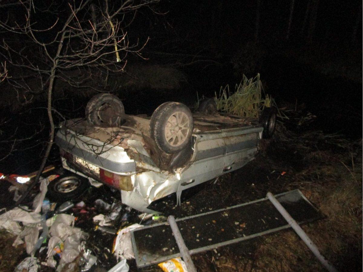 Дорожный полицейский спас из глубокой канавы водителя, попавшего в ДТП под Нижним Новгородом