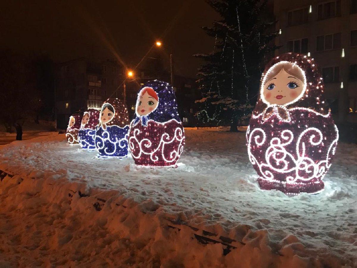 Советский район Нижнего Новгорода украсили к Новому году