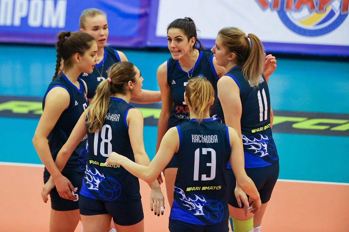 Волейболистки нижегородской «Спарты» проиграли в Краснодаре