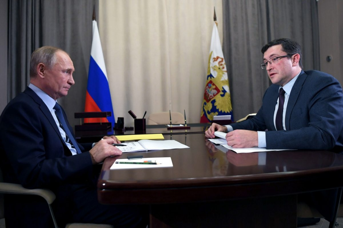 Глеб Никитин доложил Владимиру Путину оситуации сраспространением коронавируса врегионе