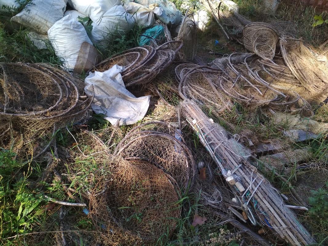 Орудия нижегородских браконьеров-рыболовов уничтожили на полигоне