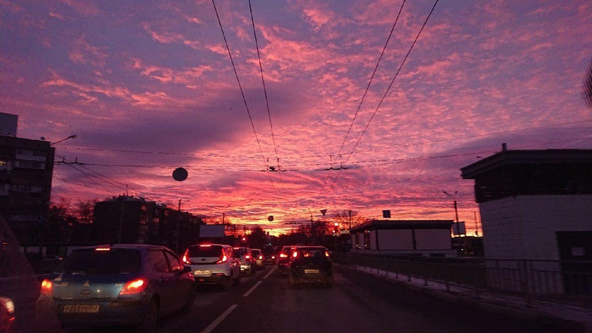 Нижегородцы восхитились утренним рассветом