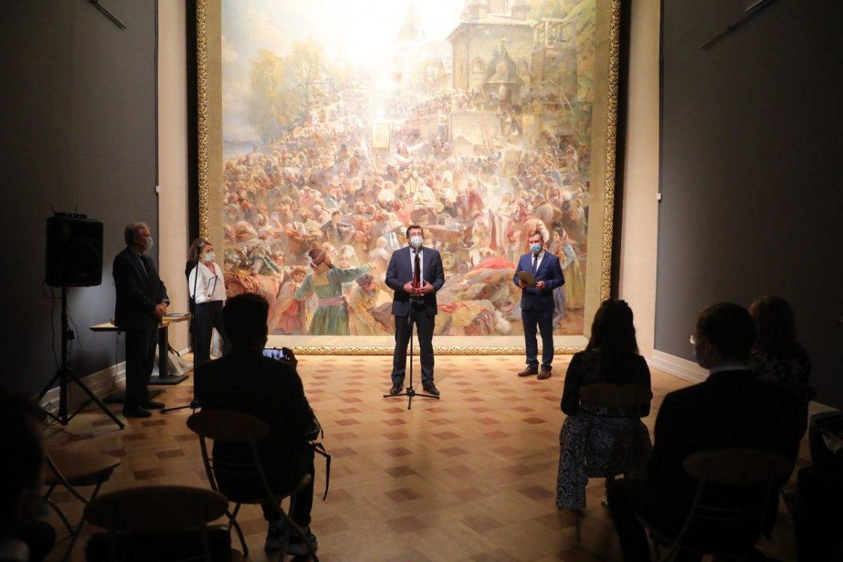 Видео дня: нижегородцам представили VR-экспозицию картины «Воззвание Минина»