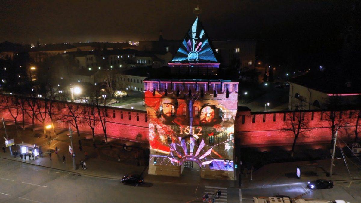 Праздничная инсталляция украсит Дмитриевскую башню вДень народного единства