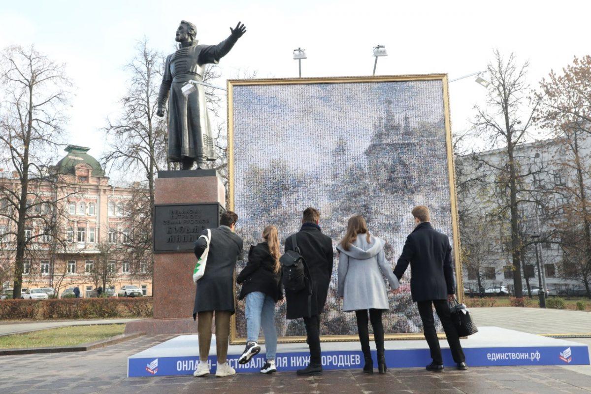 Картину «Воззвание Минина» воссоздали изпортретов нижегородцев