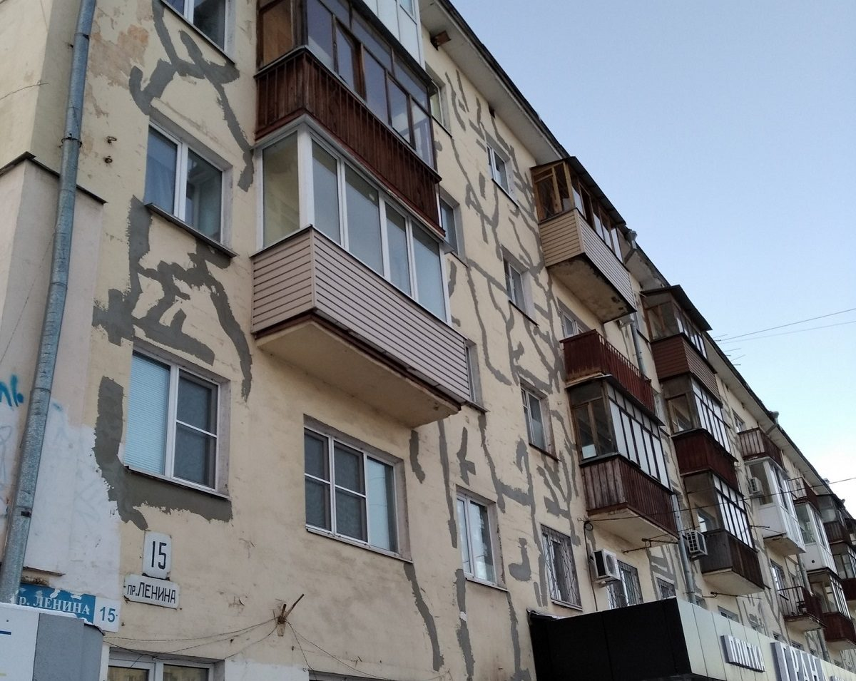 «Варикозные» дома на проспекте Ленина отремонтируют до начала декабря