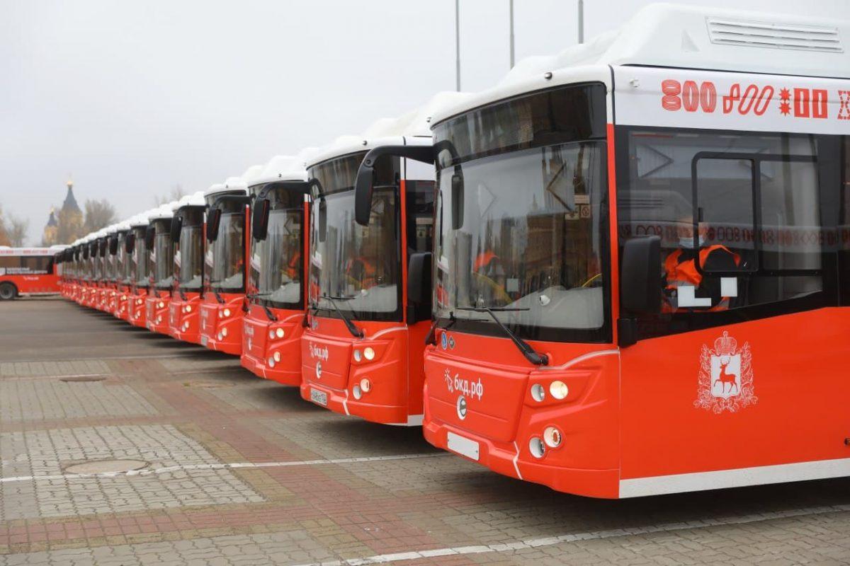 ВНижний Новгород прибыли 14 новых автобусов нагазомоторном топливе