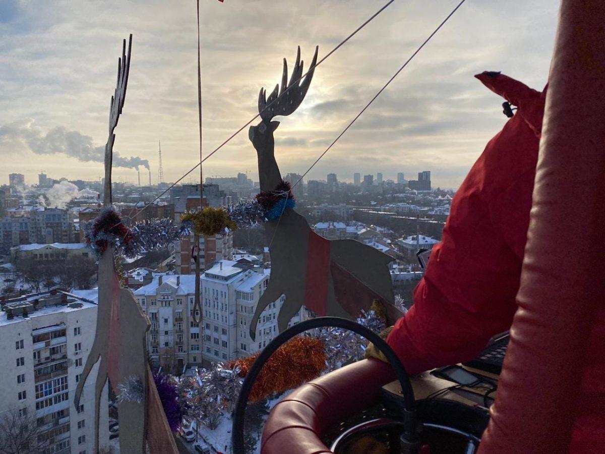 Опубликовано видео полета Деда Мороза над Нижним Новгородом