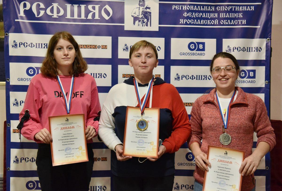 Марианна Карпычева из Нижнего Новгорода завоевала серебряную медаль на всероссийских соревнованиях по русским шашкам