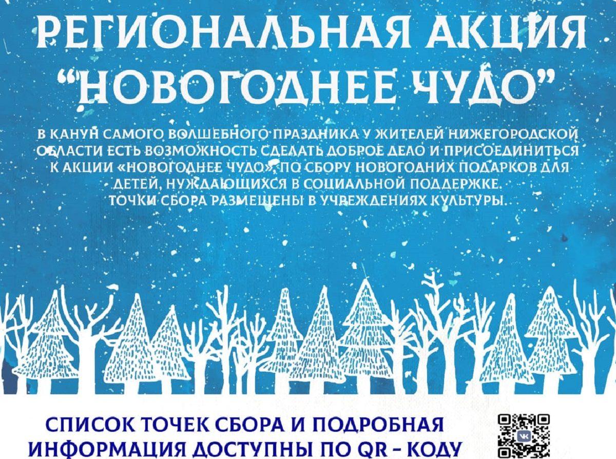 Нижегородские волонтеры культуры приглашают присоединиться крегиональной акции «Новогоднее чудо»