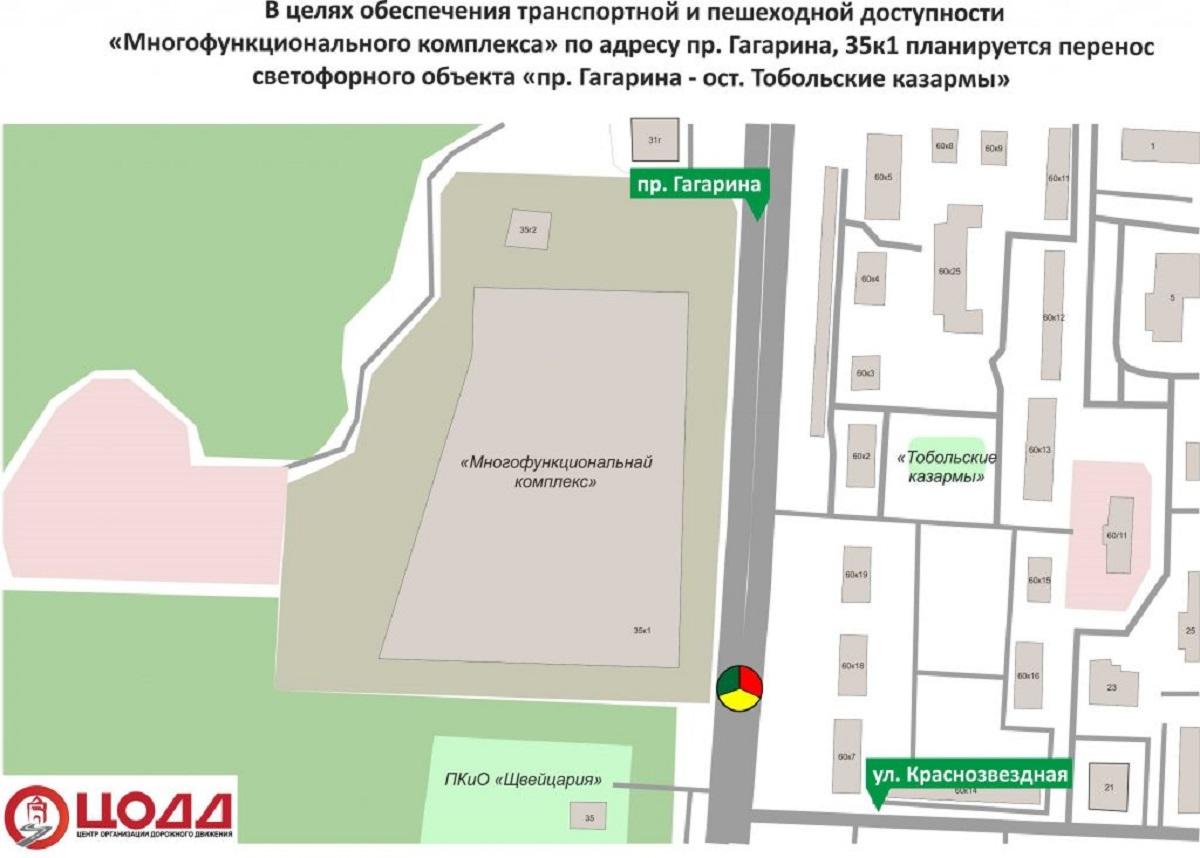 ЦОДД светофор проспект Гагарина