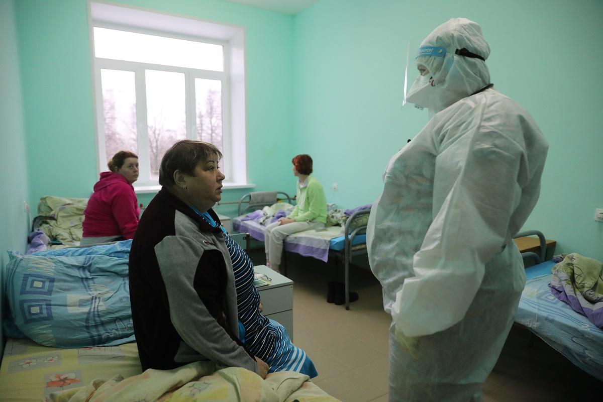 больница коронавирус палата больные