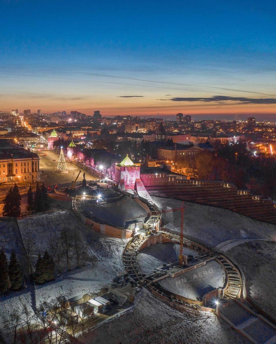 Нижегородцам показали реставрацию Чкаловской лестницы с высоты