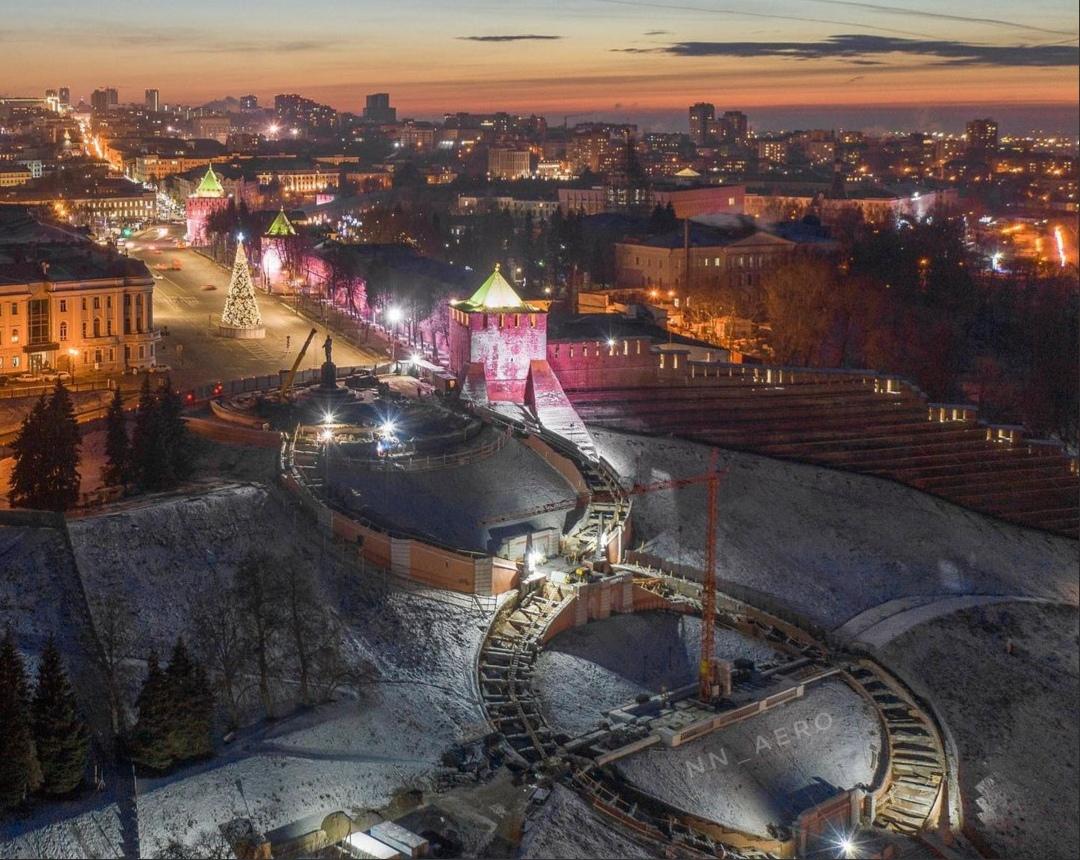 Фото дня: Нижегородцам показали реставрацию Чкаловской лестницы с высоты