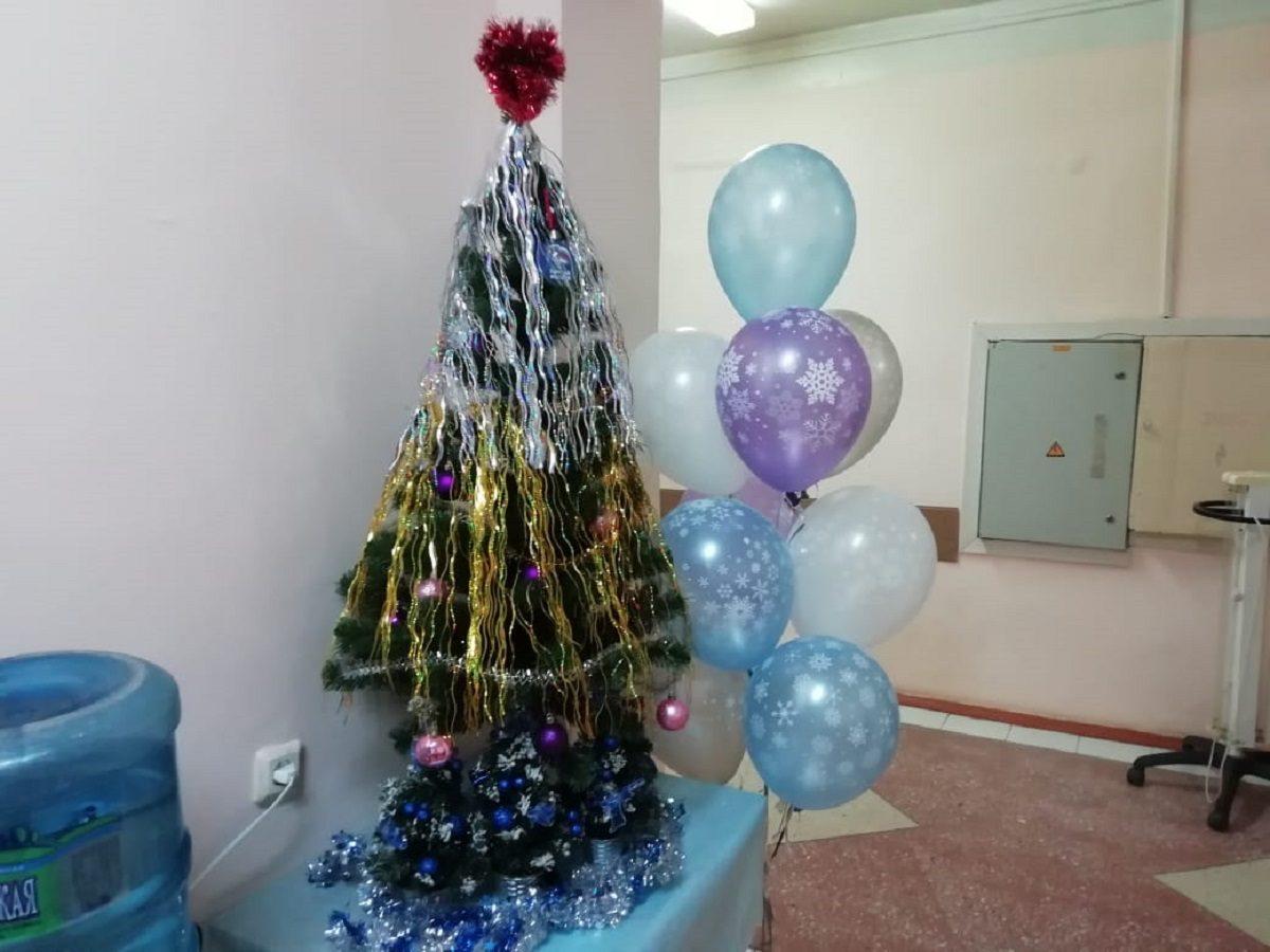 Волонтеры передали новогодние елки в ковидные госпитали