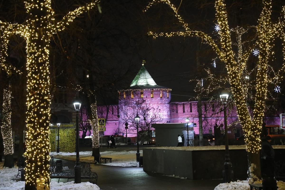 Карнавал огней: как Нижний Новгород преобразился к Новому году