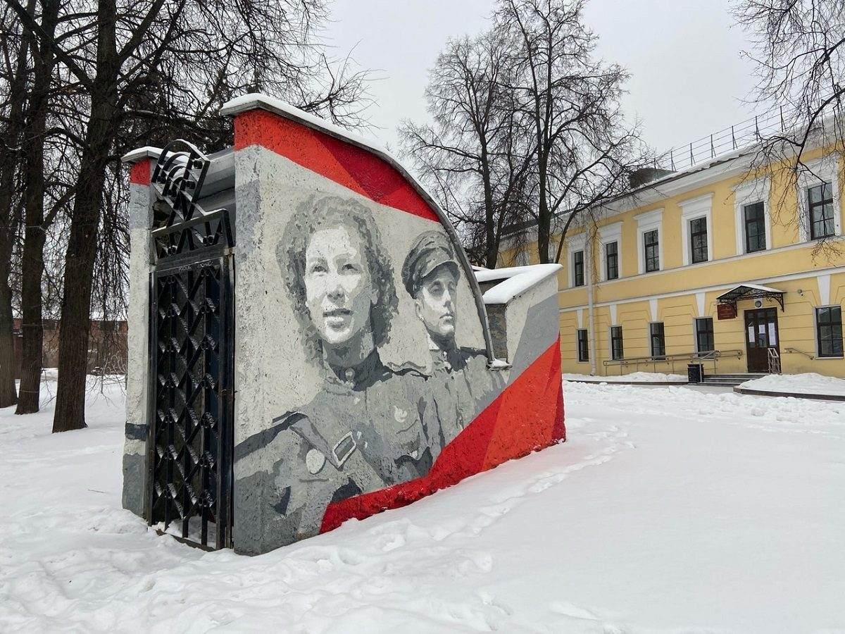 Еще одно граффити, посвященное Великой Победе, появилось натерритории Нижегородского кремля