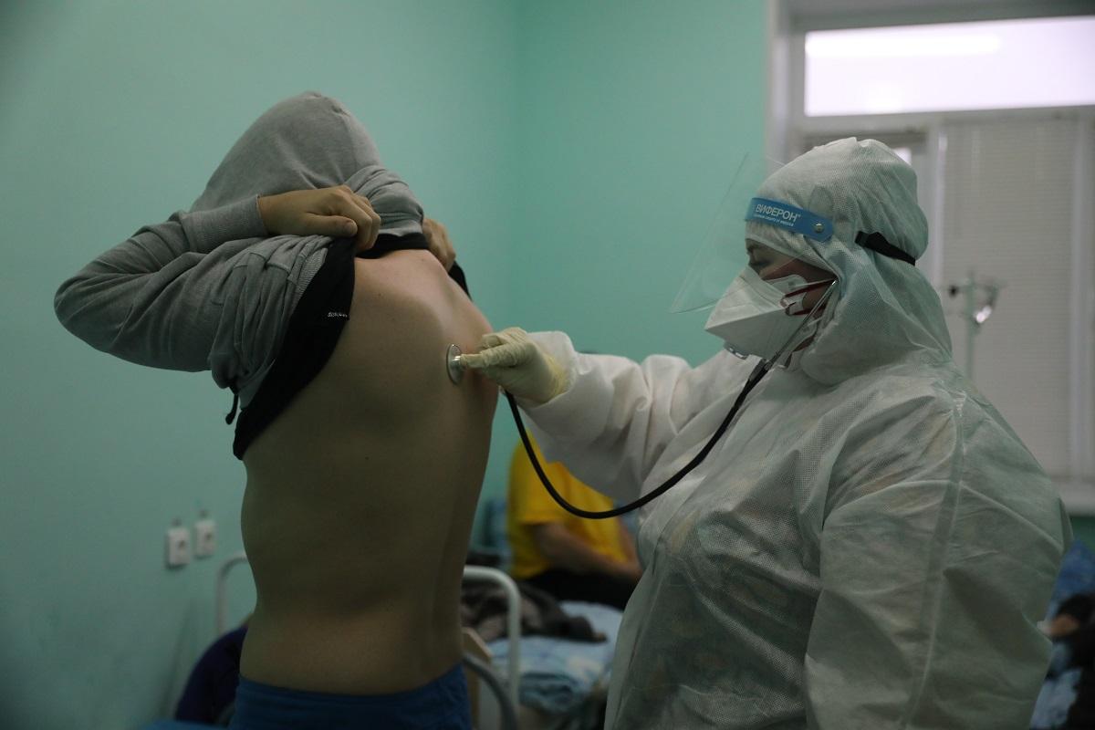 коронавирус пациент красная зона осмотр